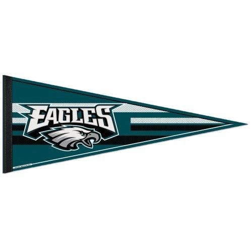 "BIG PHILADELPHIA EAGLES TEAM LOGO FELT PENNANT 12""X30"" NFL FOOTBALL SHIPS FLAT!"
