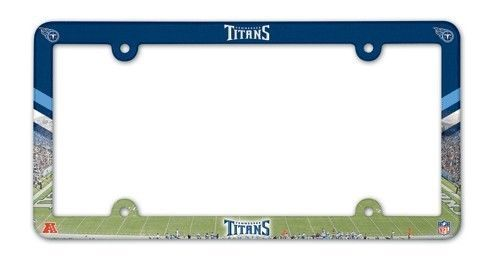 TENNESSEE TITANS COLOR CAR AUTO PLASTIC LICENSE PLATE TAG FRAME NFL FOOTBALL