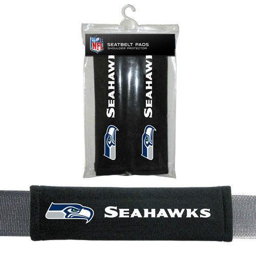 SEATTLE SEAHAWKS 2 VELOUR SEAT BELT LAPTOP GYM BAG SHOULDER PADS NFL FOOTBALL