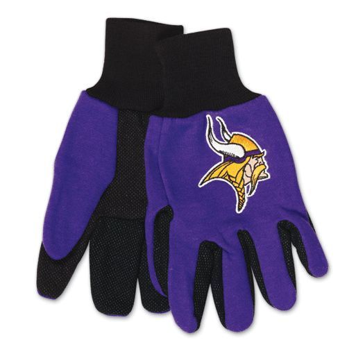 MINNESOTA VIKINGS TAILGATE GAME DAY PARTY UTILITY WORK GLOVES NFL FOOTBALL #1
