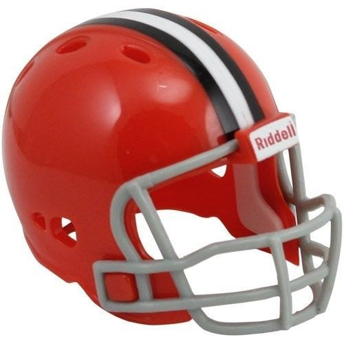 "CLEVELAND BROWNS POCKET PRO HELMET 2"" SIZE  Made By RIDDELL! NFL FOOTBALL"
