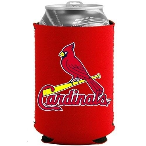 2 ST. LOUIS CARDINALS BEER SODA CAN or BOTTLE KADDY KOOZIE HOLDER MLB BASEBALL