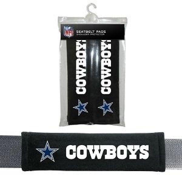 DALLAS COWBOYS 2 VELOUR SEAT BELT LAPTOP GYM BAGS SHOULDER PADS NFL FOOTBALL