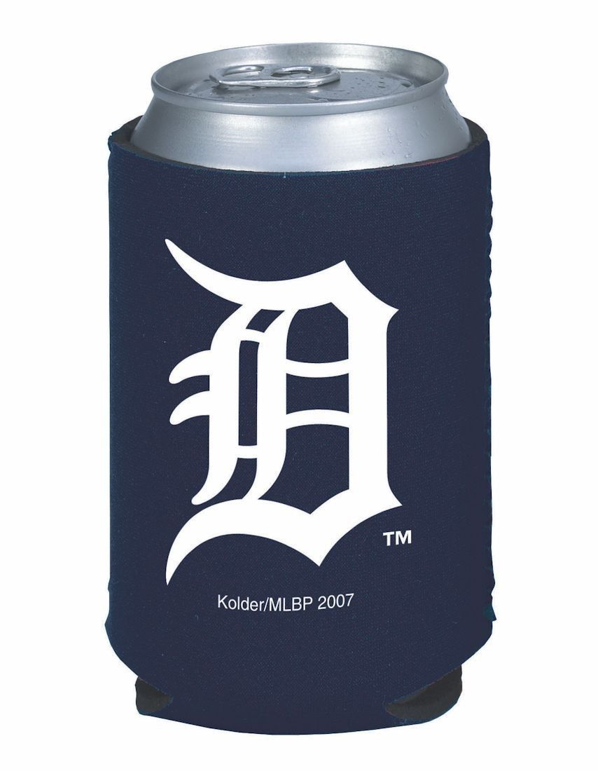 2 DETROIT TIGERS BEER SODA WATER CAN KADDY or BOTTLE KOOZIE HOLDER MLB BASEBALL