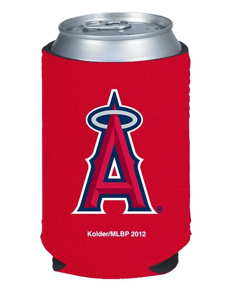2 LOS ANGELES ANGELS BEER SODA WATER CAN KADDY BOTTLE KOOZIE HOLDER MLB BASEBALL