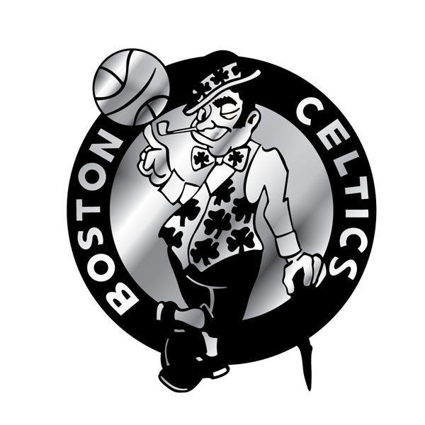 BOSTON CELTICS CAR AUTO 3-D CHROME SILVER TEAM LOGO EMBLEM NBA BASKETBALL
