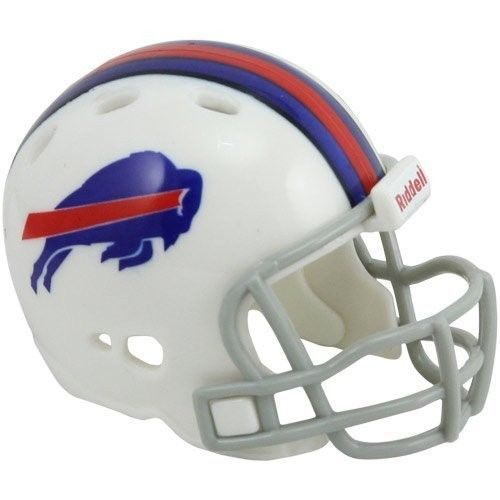 "2 BUFFALO BILLS POCKET PRO HELMET 2"" SIZE  Made By RIDDELL! NFL FOOTBALL"
