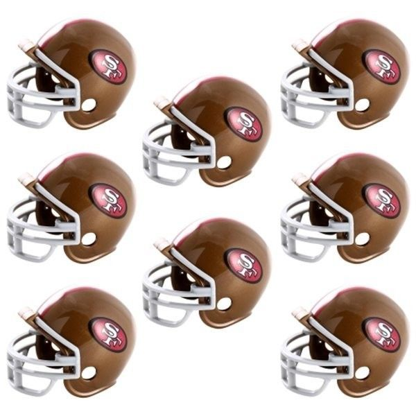 SAN FRANCISCO 49ERS 8 PARTY PACK NFL FOOTBALL HELMETS made by Riddell!