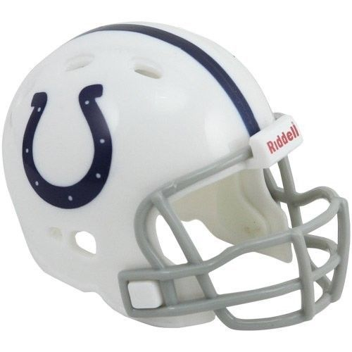 """INDIANAPOLIS COLTS POCKET PRO HELMET 2"""" SIZE  Made By RIDDELL! NFL FOOTBALL"""