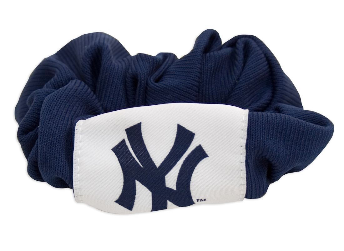 NEW YORK YANKEES SCRUNCHIE HAIR TWIST PONYTAIL HOLDER TEAM LOGO MLB BASEBALL
