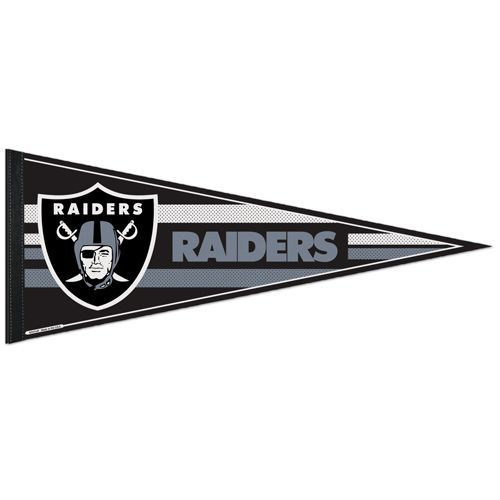 "2 BIG OAKLAND RAIDERS TEAM FELT PENNANT 12""X 30"" NFL FOOTBALL SHIPS FLAT !"