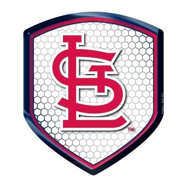 ST LOUIS CARDINALS HIGH INTENSITY REFLECTOR SHIELD DOMED TEAM BASEBALL DECAL #1