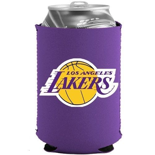 2 LOS ANGELES LAKERS BEER SODA CAN BOTTLE KOOZIE KADDY HOLDER NBA BASKETBALL