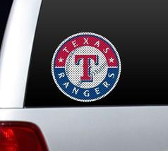 "*BIG* 12"" TEXAS RANGERS CAR HOUSE PERFORATED WINDOW FILM DECAL MLB BASEBALL - $14.87"