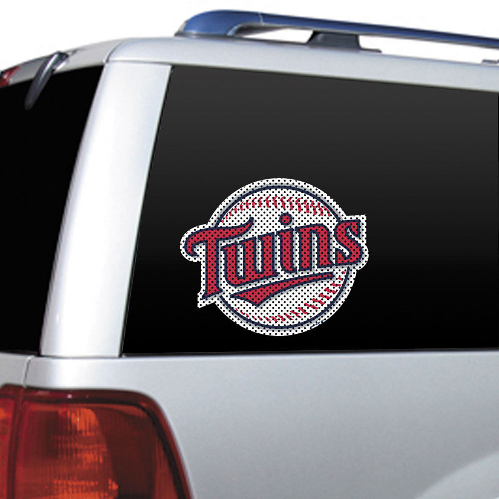 "BIG 12"" MINNESOTA TWINS CAR HOUSE PERFORATED WINDOW FILM DECAL MLB BASEBALL"