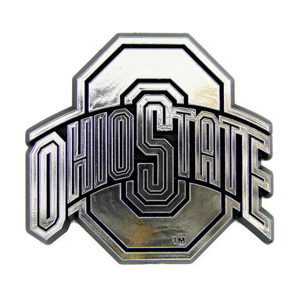 OHIO STATE BUCKEYES CAR AUTO 3-D CHROME SILVER TEAM LOGO EMBLEM