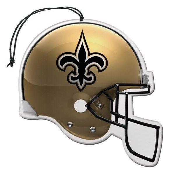 3 PACK NEW ORLEANS SAINTS NFL FOOTBALL HELMET AIR FRESHENERS CAR AUTO HOME