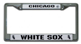 CHICAGO WHITE SOX BASEBALL CAR CHROME LICENSE FRAME - $13.92