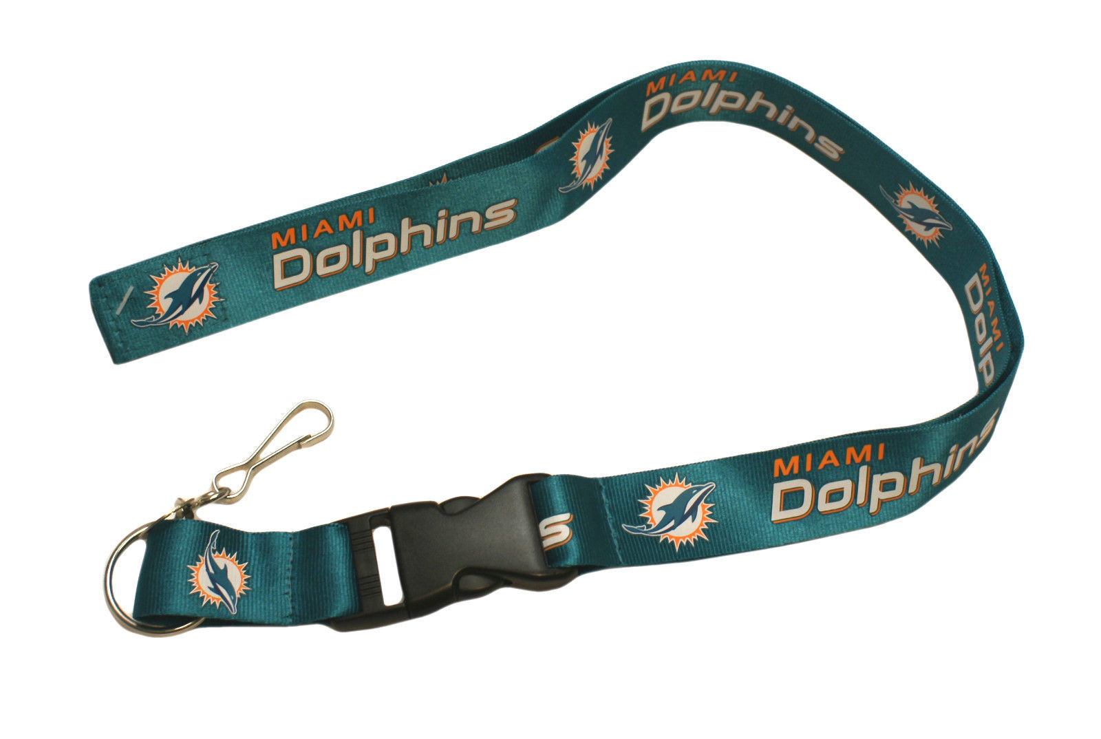 MIAMI DOLPHINS LANYARD KEYCHAIN TICKET HOLDER NFL FOOTBALL