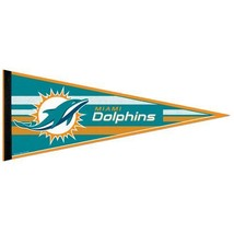 "2 BIG MIAMI DOLPHINS TEAM FELT PENNANT 12""X30"" NFL FOOTBALL SHIPS FLAT ! - $231,73 MXN"