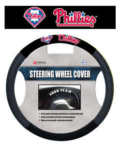 PHILADELPHIA PHILLIES MESH SUEDE STEERING WHEEL COVER
