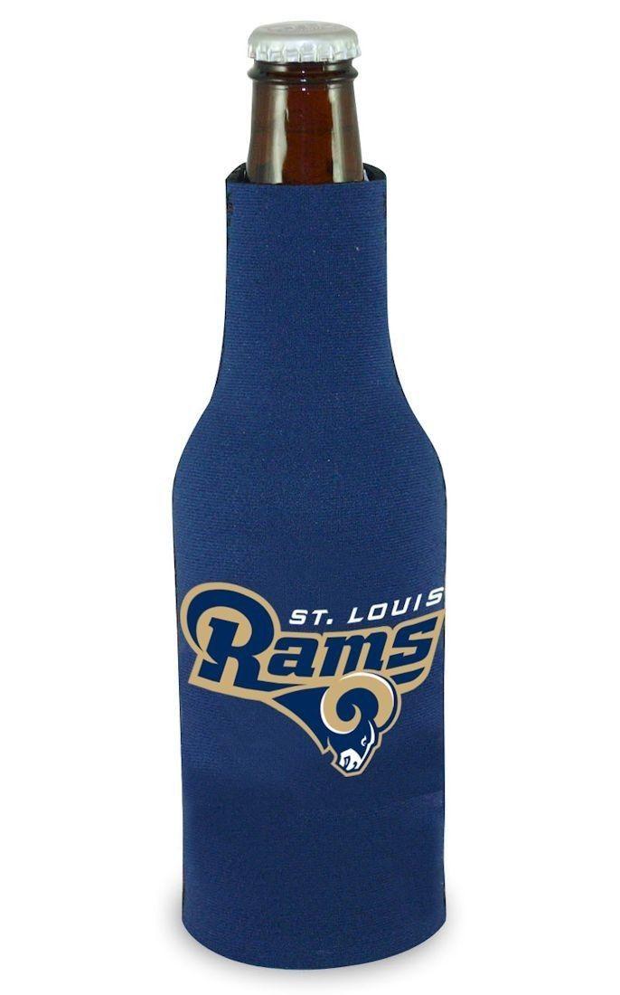 2 ST. LOUIS RAMS BEER SODA WATER BOTTLE ZIPPER KOOZIE HOLDER NFL FOOTBALL