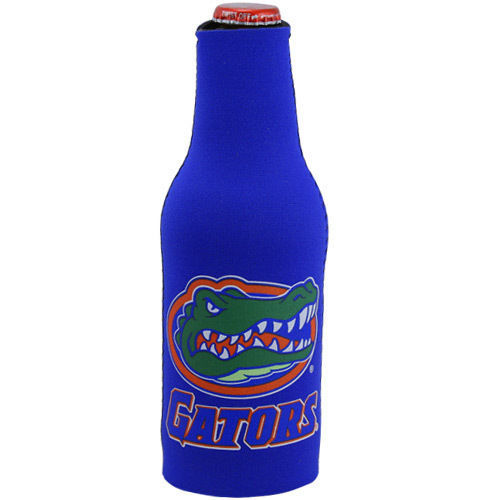 2 FLORIDA GATORS BEER SODA WATER BOTTLE ZIPPER KOOZIE COOLIE HOLDER