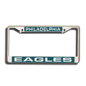 PHILADELPHIA EAGLES CAR LASER-CUT CHROME LICENSE FRAME