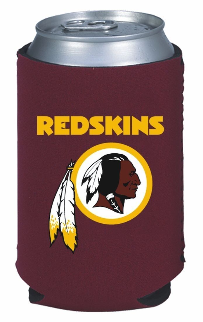 2 WASHINGTON REDSKINS BEER SODA WATER CAN KADDY KOOZIE HOLDER NFL FOOTBALL
