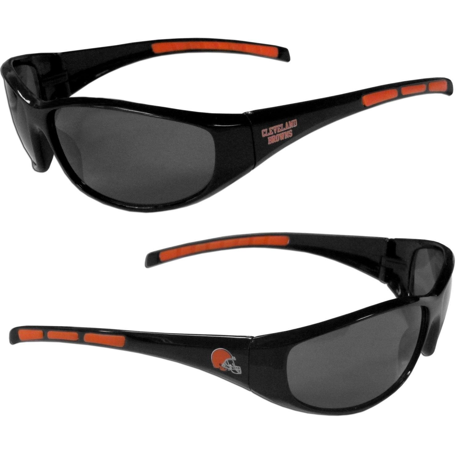 CLEVELAND BROWNS UV 400 WRAP SUNGLASSES TEAM LOGO NFL FOOTBALL #1