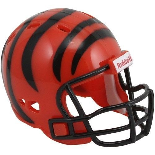 "CINCINNATI BENGALS POCKET PRO HELMET 2"" SIZE  Made By RIDDELL! NFL FOOTBALL"