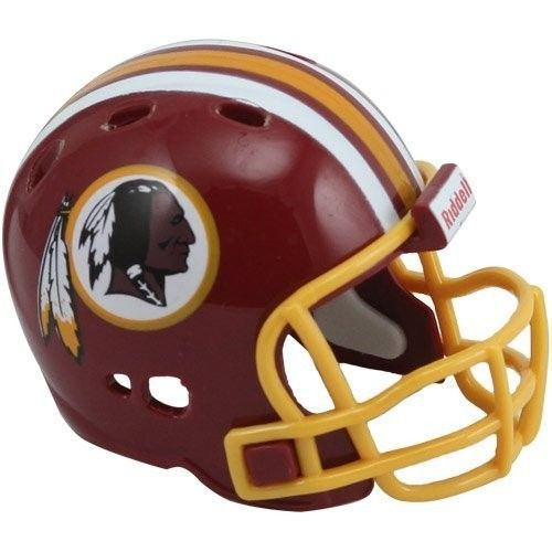 "WASHINGTON REDSKINS POCKET PRO NFL FOOTBALL HELMET 2"" SIZE  Made By RIDDELL!"