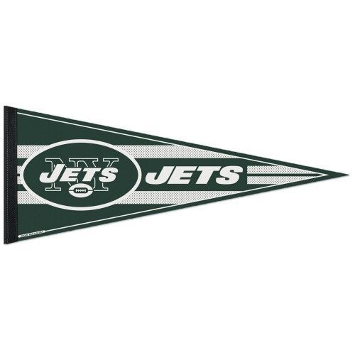 "BIG NEW YORK JETS TEAM FELT PENNANT 12""X 30"" NFL FOOTBALL SHIPS FLAT!"