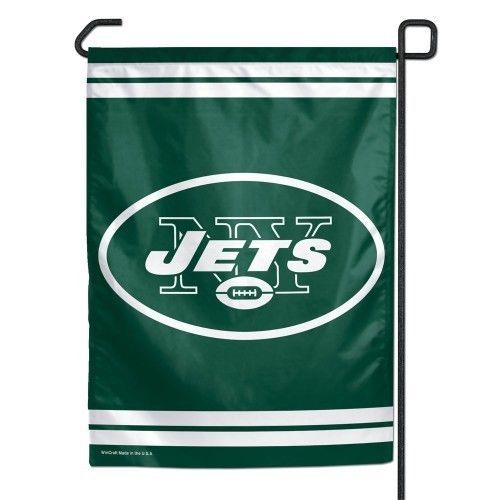 "NEW YORK JETS TEAM LOGO 11"" X 15""  GARDEN WALL FLAG BANNER NFL FOOTBALL"