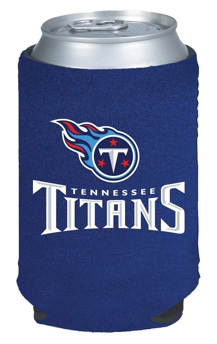 2 TENNESSEE TITANS BEER SODA WATER CAN KADDY KOOZIE HOLDER NFL FOOTBALL