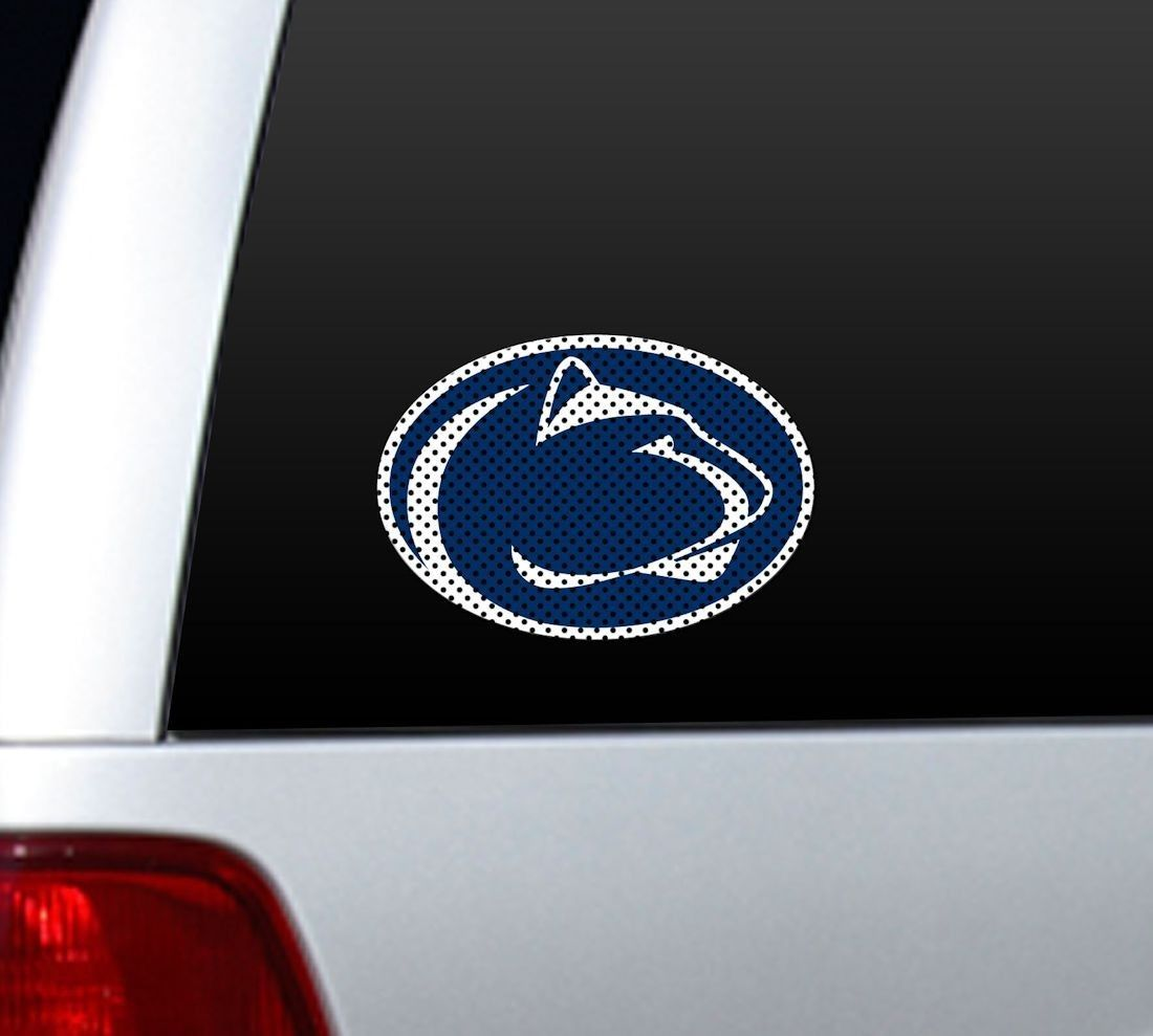 """*BIG* 12"""" PENN STATE NITTANY LIONS CAR HOME PERFORATED WINDOW FILM DECAL"""