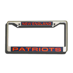 NEW ENGLAND PATRIOTS LASER-CUT CHROME LICENSE FRAME