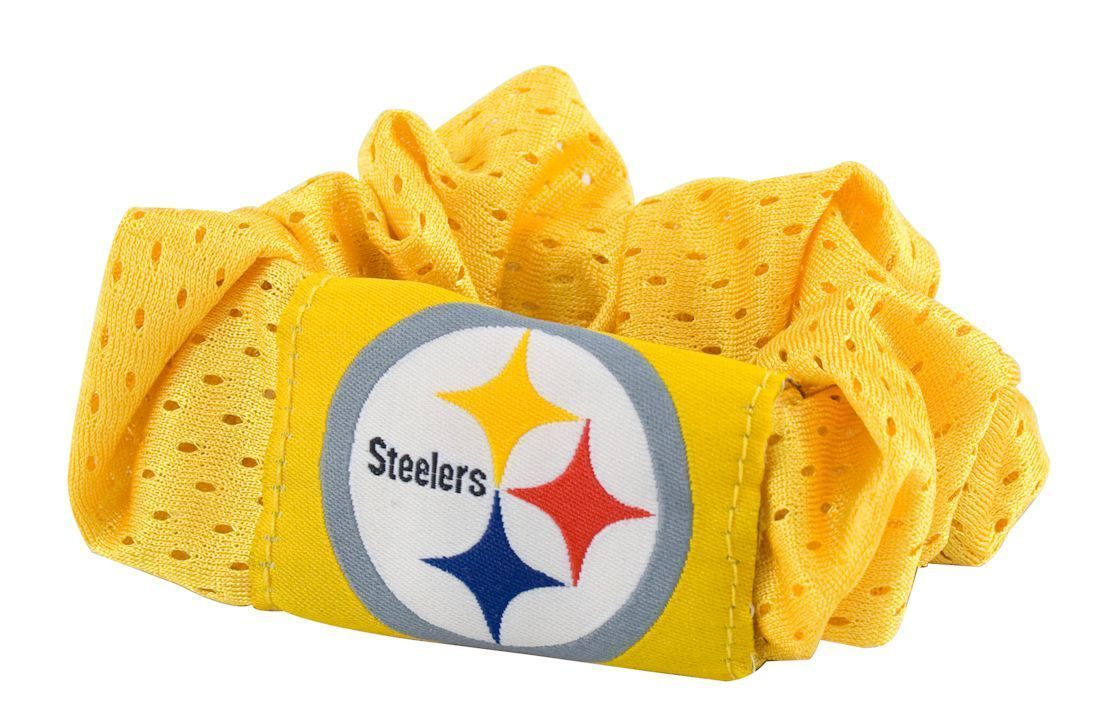 PITTSBURGH STEELERS GOLD SCRUNCHIE HAIR TWIST PONYTAIL HOLDER NFL FOOTBALL TEAM