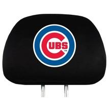 CHICAGO CUBS CAR AUTO 2 TEAM HEADREST COVERS MLB BASEBALL - $18.85