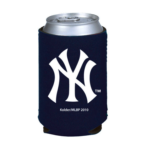 2 NEW YORK YANKEES BEER SODA WATER CAN KADDY BOTTLE KOOZIE HOLDER MLB BASEBALL