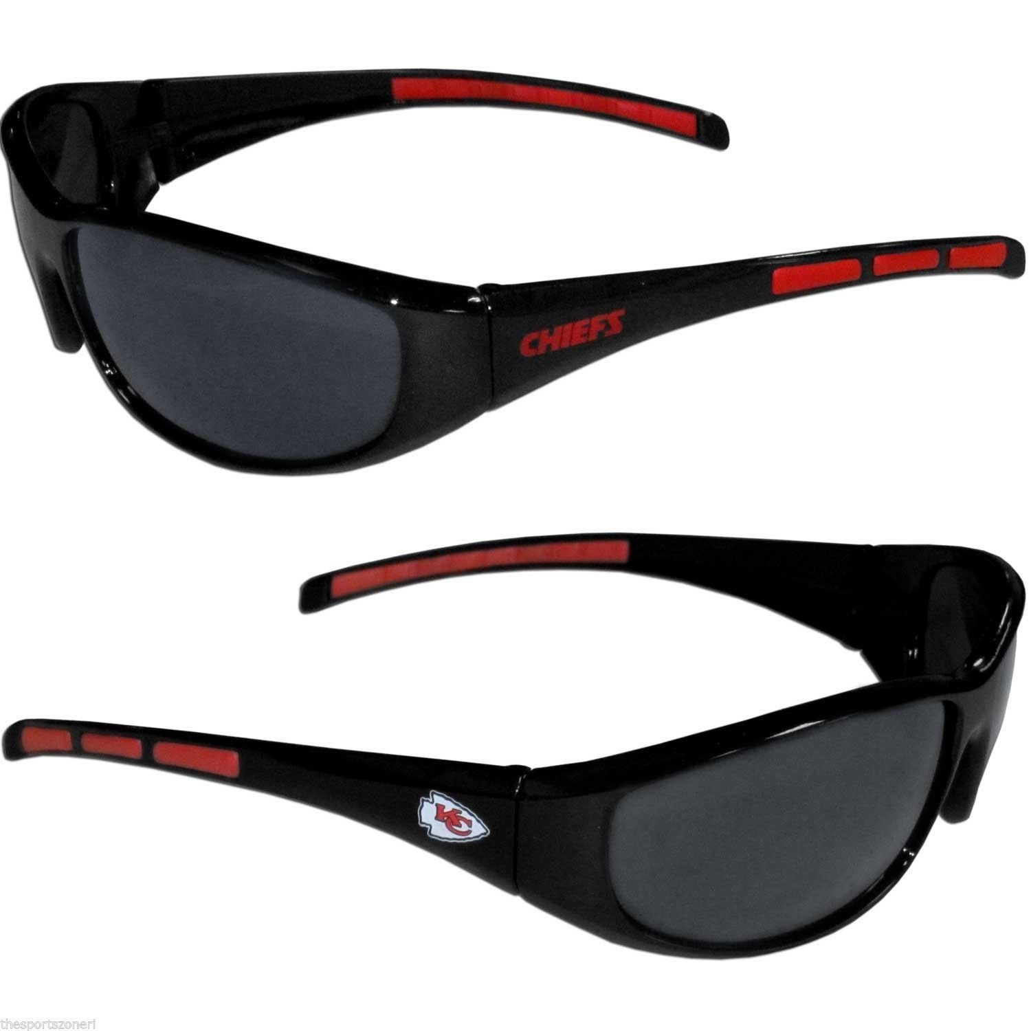 1 KANSAS CITY CHIEFS UV 400 WRAP SUNGLASSES TEAM LOGO NFL FOOTBALL