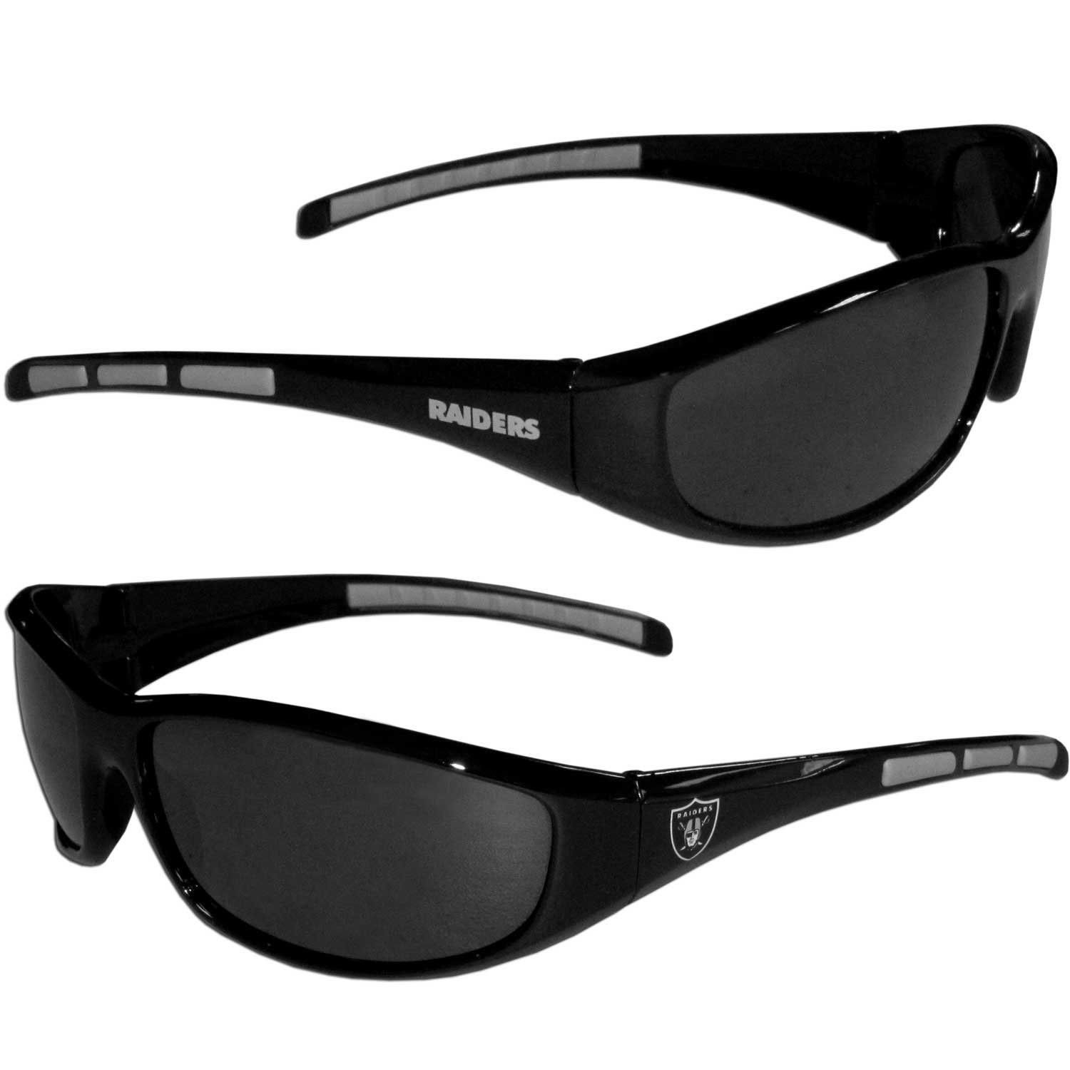 OAKLAND RAIDERS UV 400 WRAP SUNGLASSES TEAM LOGO NFL FOOTBALL #1