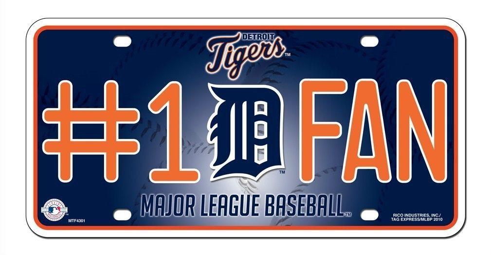 DETROIT TIGERS  #1 FAN CAR AUTO METAL LICENSE PLATE TAG MLB BASEBALL