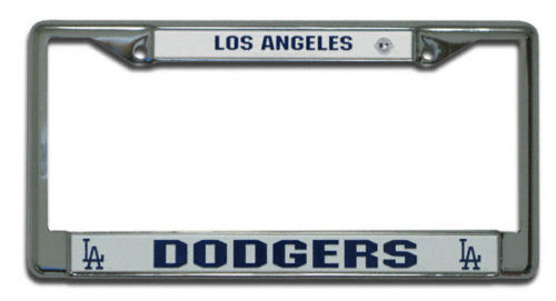 LOS ANGELES DODGERS CAR AUTO CHROME METAL LICENSE PLATE FRAME MLB BASEBALL
