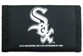 CHICAGO WHITE SOX TEAM LOGO NYLON TRIFOLD WALLET MLB BASEBALL - $8.39