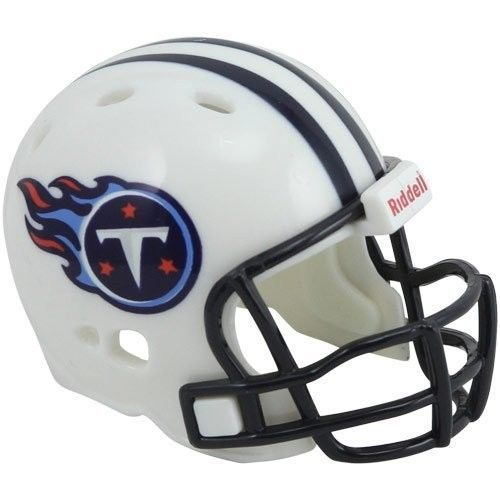 "2 TENNESSEE TITANS POCKET PRO NFL FOOTBALL HELMET 2"" SIZE  Made By RIDDELL!"