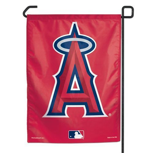 "ANAHEIM ANGELS TEAM GARDEN YARD WALL FLAG BANNER 11"" X 15"" MLB BASEBALL"