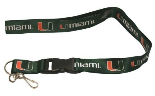 2 MIAMI HURRICANES TEAM LANYARD KEYCHAIN TICKET HOLDER