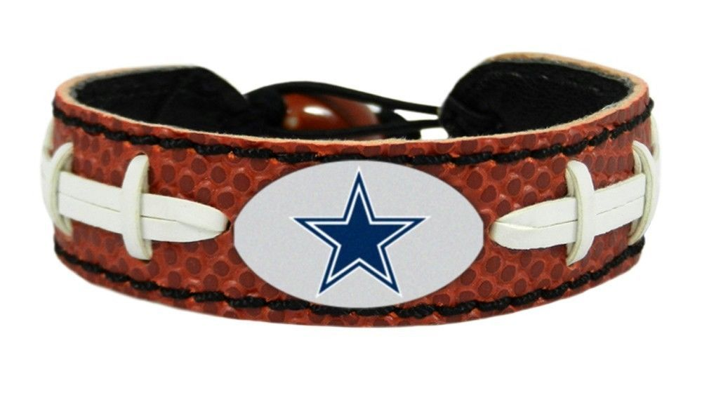 DALLAS COWBOYS CLASSIC NFL FOOTBALL LEATHER LACES BRACELET