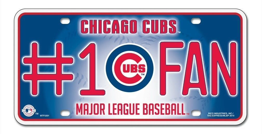 CHICAGO CUBS #1 FAN CAR AUTO METAL LICENSE PLATE TAG MLB BASEBALL